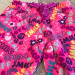 Fleece pants - girls